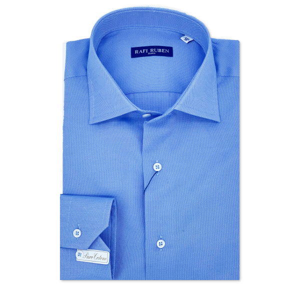 Camicia oxford Azzurra 100% cotone Regular Fit