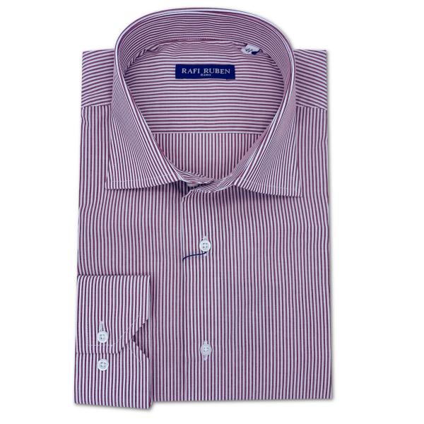 Camicia Bacchettina Bordeaux 100% cotone Regular Fit