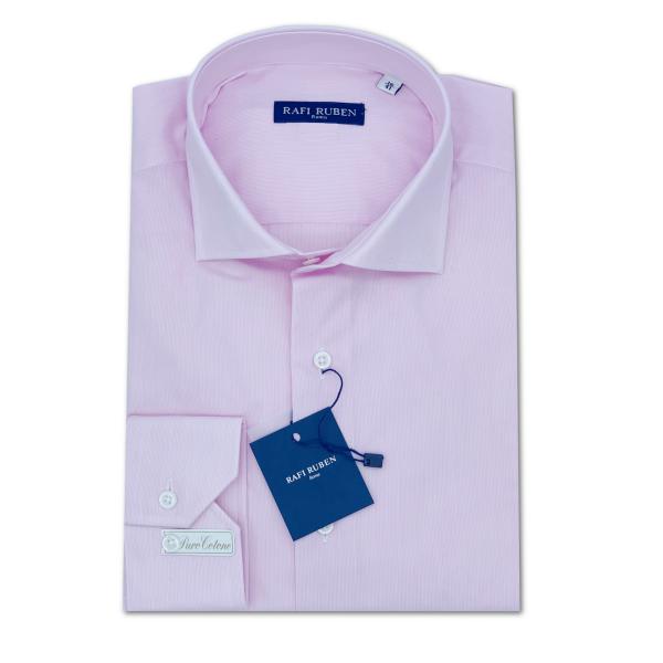 Camicia Millerighe Rosa 100% cotone Regular Fit