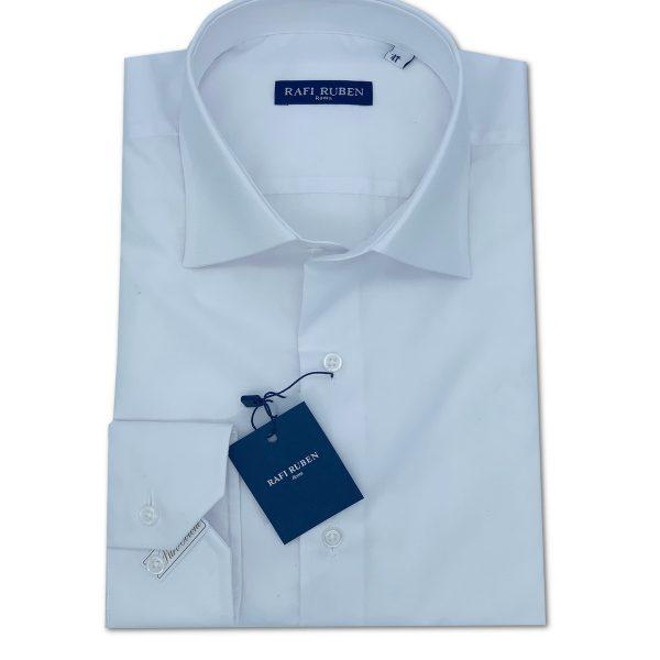 Camicia Tela liscia Bianca 100% cotone Regular Fit